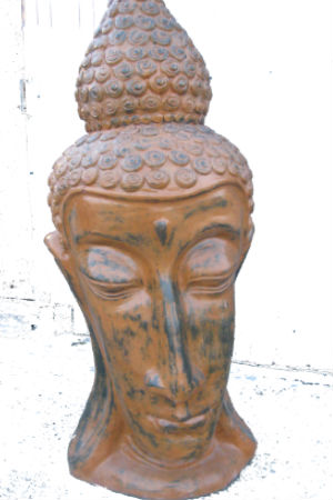 Brown Handmade Buddah Head. Unique Piece (4ft High)