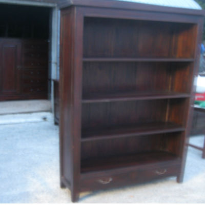 Handmade Mahogany Book Case with 2 Draws