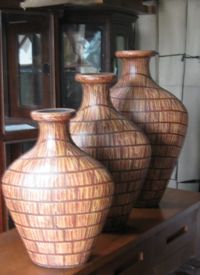 Ceramic Striped Vases