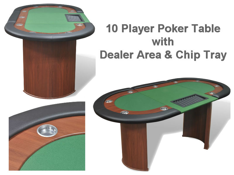 10 Player Deluxe Poker Table