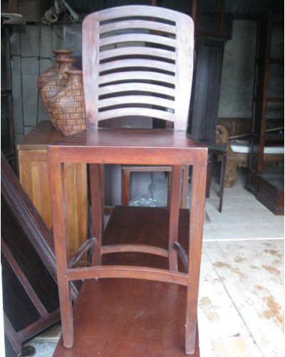 Mahogany High Stool/Chair