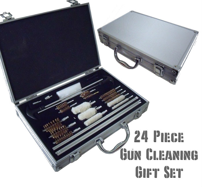 24 Piece Gun Cleaning Gift Set with Carry Case