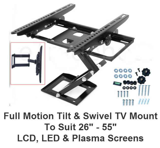 "26""-55"" Full Motion Tilt & Swivel TV Mount"