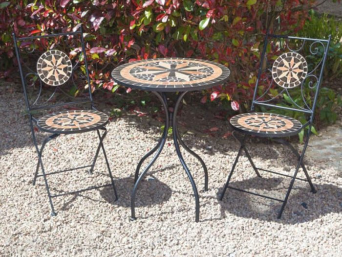 3 Piece Mosaic Bistro Set