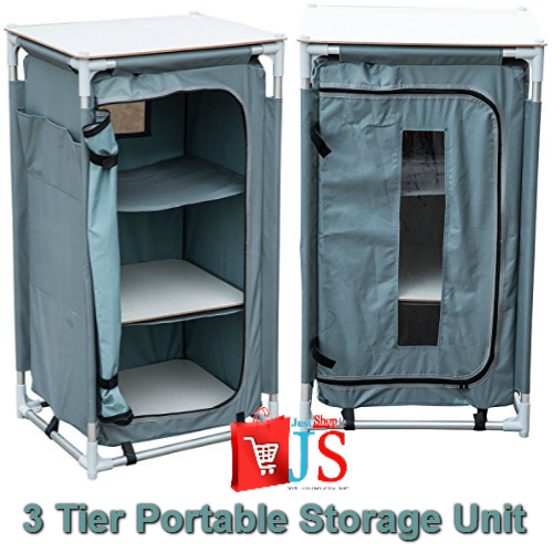3 Tier Portable Storage Unit for Camping