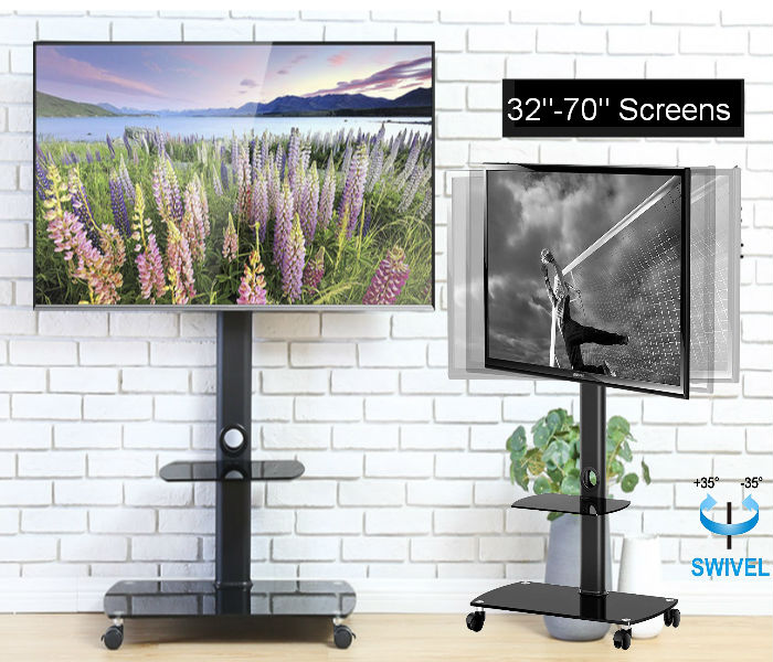 "Mobile Tv Cart for 32""-70"" Screens"
