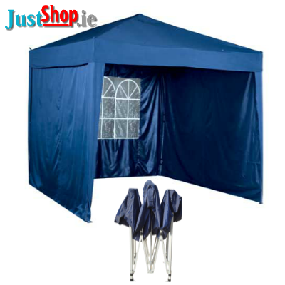 3M x 3M Pop Up Waterproof Gazebo - Including 3 Side Walls