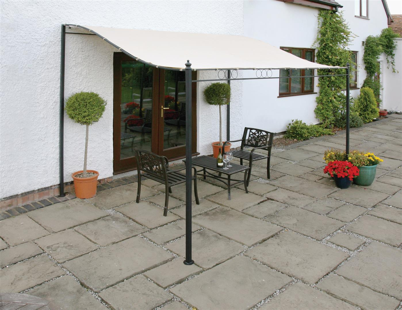 3M x 2.5M Wall Mounted Gazebo