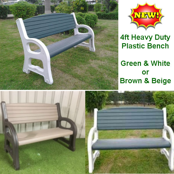 4ft Plastic Garden Bench