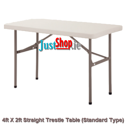 4ft X 2ft Straight Trestle Table (standard legs)