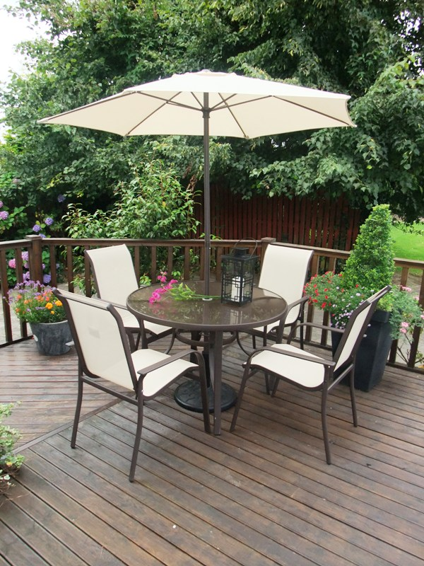 6 piece steel and textilene patio set - Garden Furniture Ireland