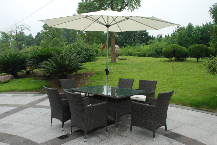 6 Seater Rattan Dining Set