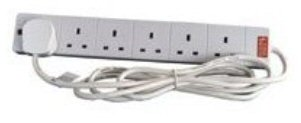 6 Gang Extension Lead With 2M Cable.
