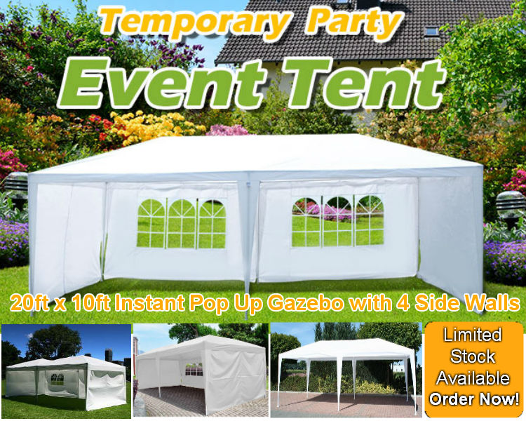 6M x 3M Pop Up Party Gazebo