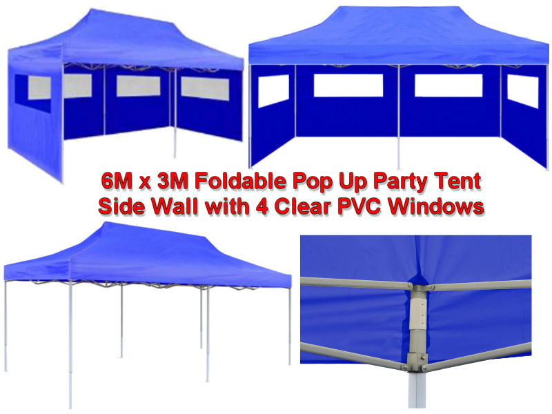 6M x 3M Blue Pop Up Party Tent