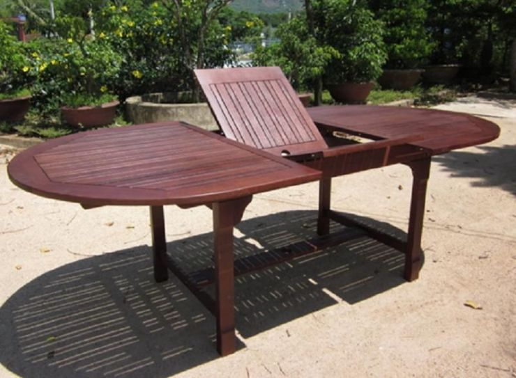 8 seater wooden set includes butterfly extension table