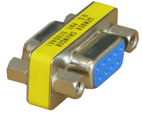 9 Pin Female to Female Adaptor: