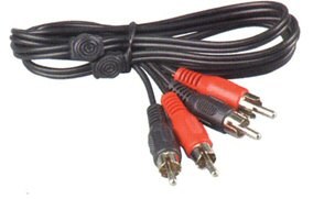 Double Phono to Phono, 1M Lead: (3 Pack)