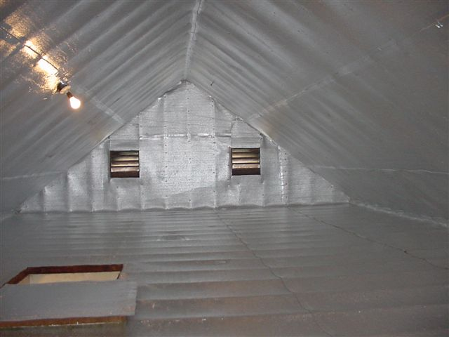 Attic blanket insulation