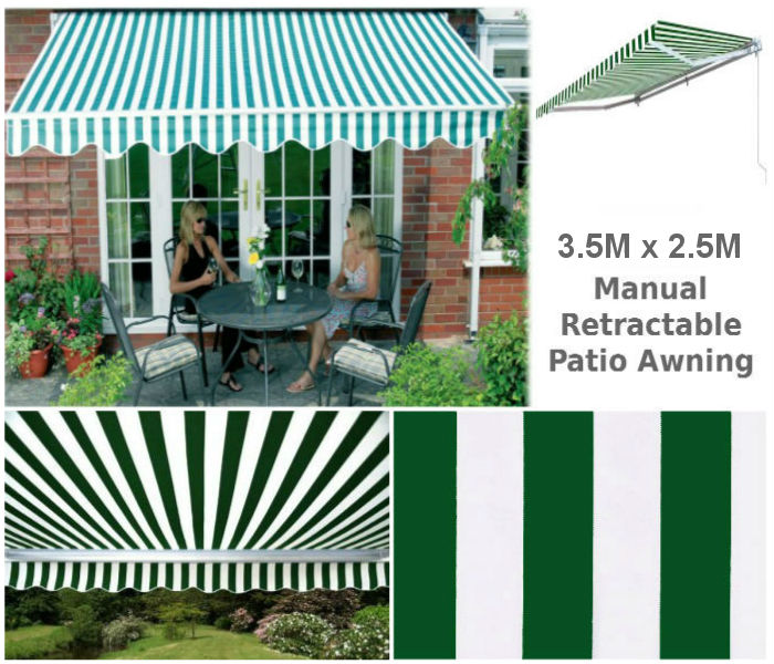 3.5M x 2.5M Retractable Patio Awnings