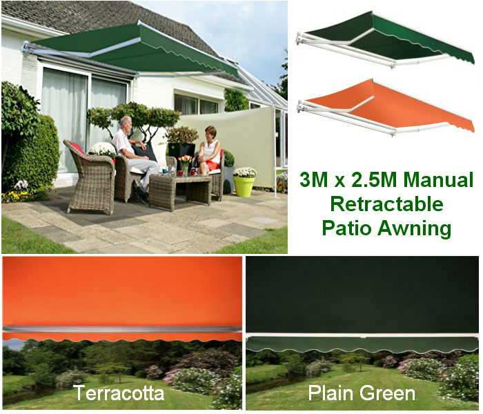 3M x 2.5M Nettuno Retractable Patio Awning
