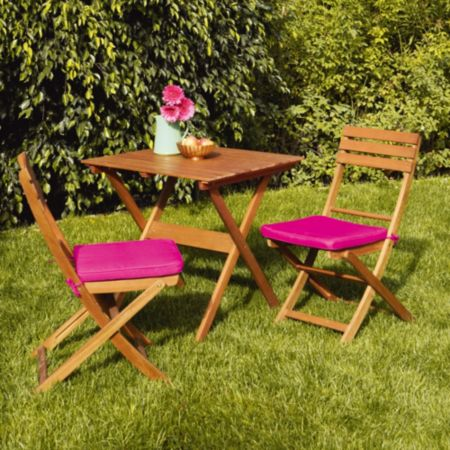 3 Piece Wooden Bistro Set