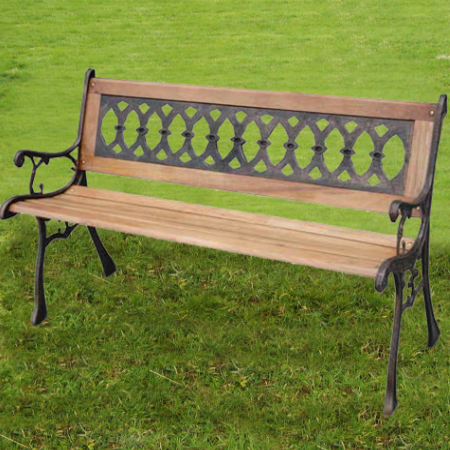 Straight Back - Stone Resin Bench - Oval Design
