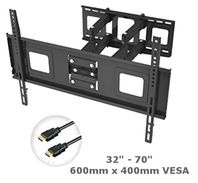"32""-70"" Full Motion Double Arm TV Bracket"