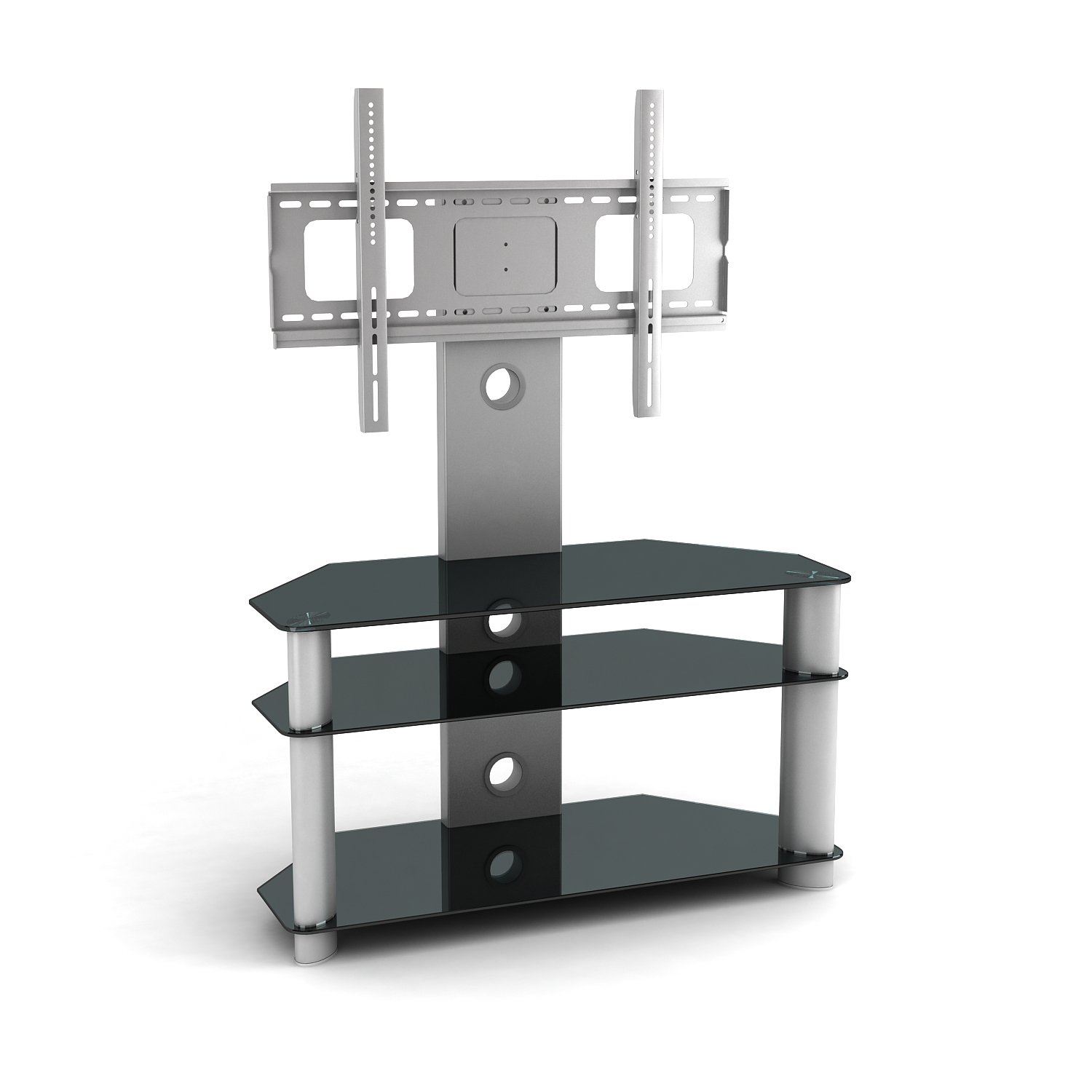 Cantilever Glass Tv Stand For 32 55 Lcd Led