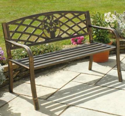 Cast iron garden bench cast iron garden bench bronze - Banco para jardin exterior ...