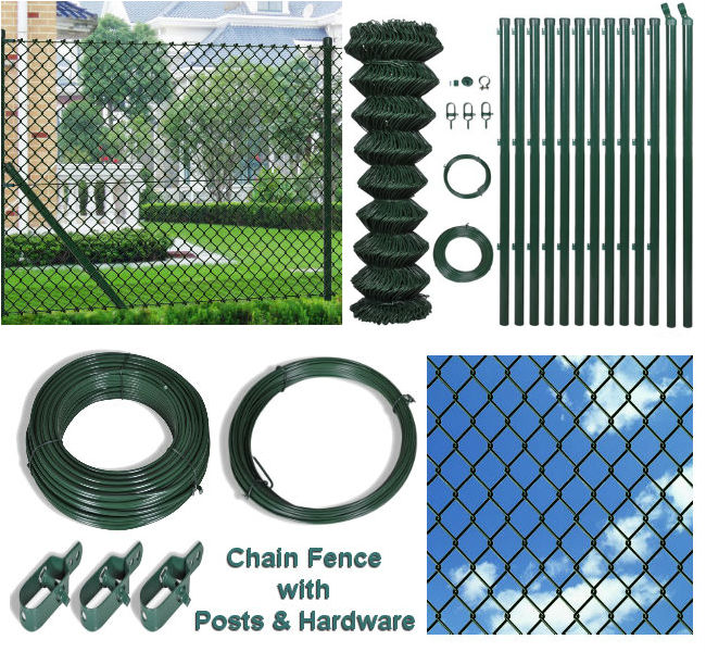 80cm x 25M Chain Fence with Posts & Hardware