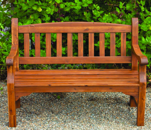 4 Seater Clivedo Garden Bench in Natural Finish