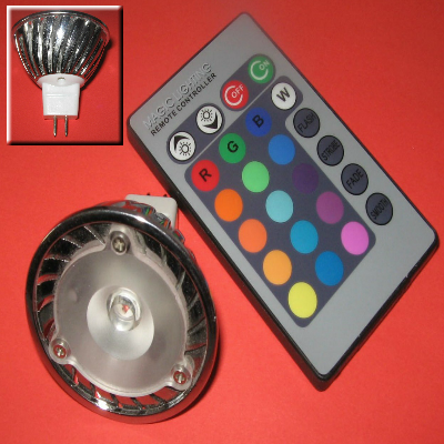 3 Watt Colour Changing MR16 LED Spotlight (LL86-MR-CC-3W)