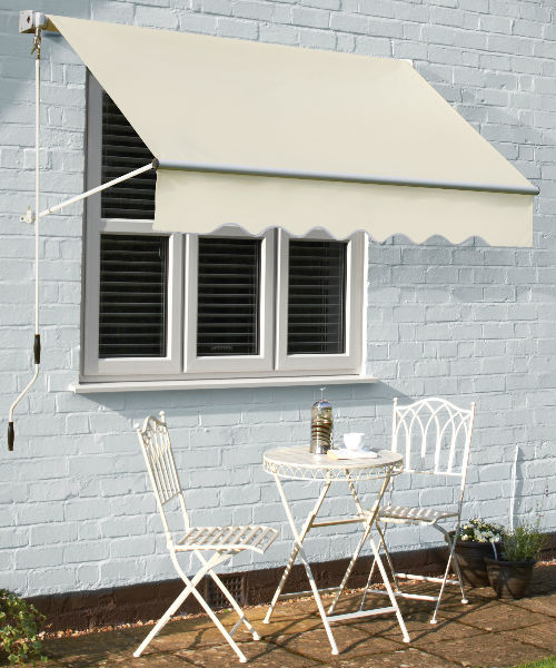 1.5M Window Awning - Cream