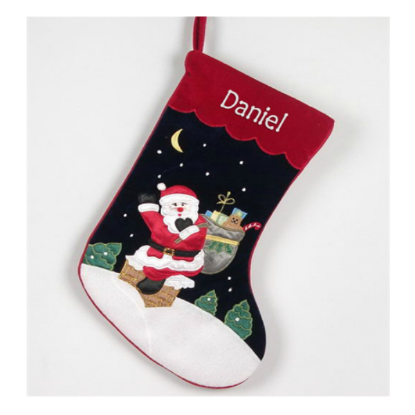 Personalised Velvet Santa Stocking