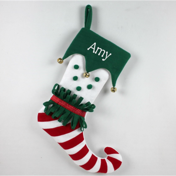 Personalised Funky Elf Christmas Stocking