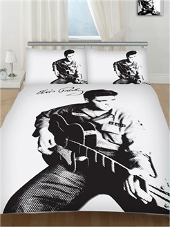 "Elvis ""Guitar"" Double Duvet Cover (Suit Double Bed)"