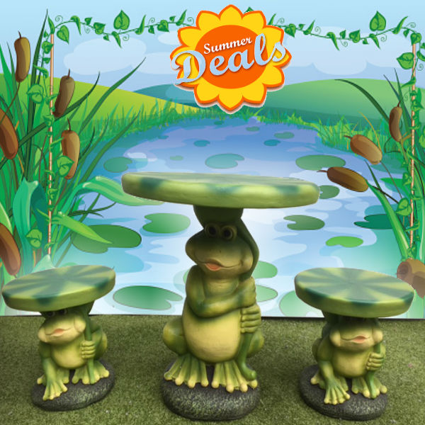 Kids Patio Furniture - Frog Set
