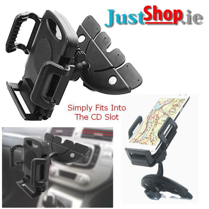 CD Slot Mount & Cradle for Mobile Devices