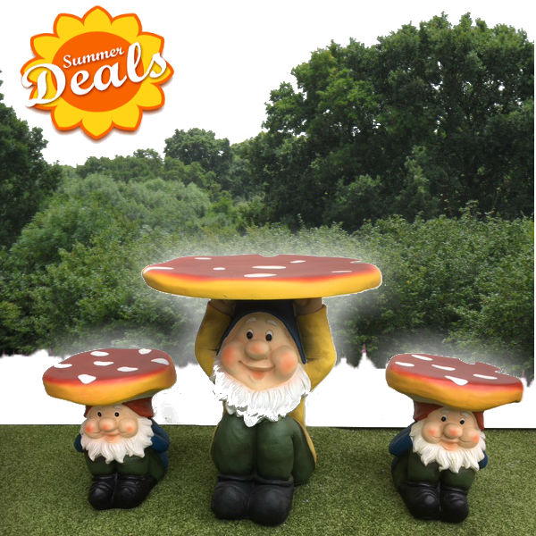 Kids Patio Furniture - Gnome Set