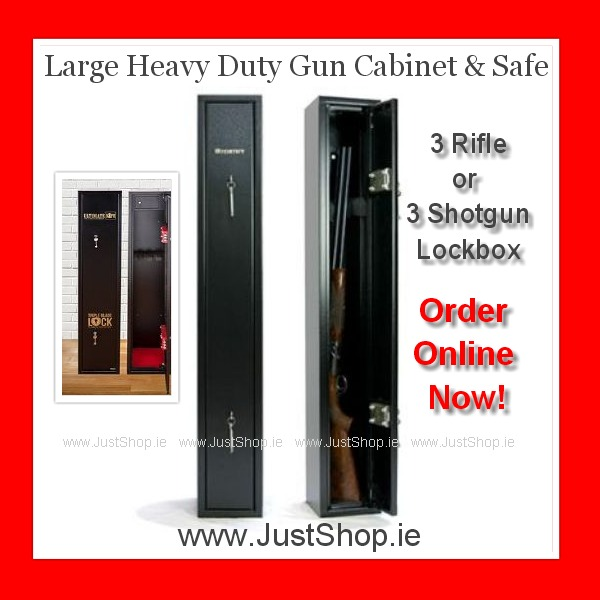 Large Heavy Duty 3 Gun Cabinet & Safe