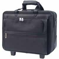 Deluxe Nylon Wheeled Laptop Case with integral trolley mechanism