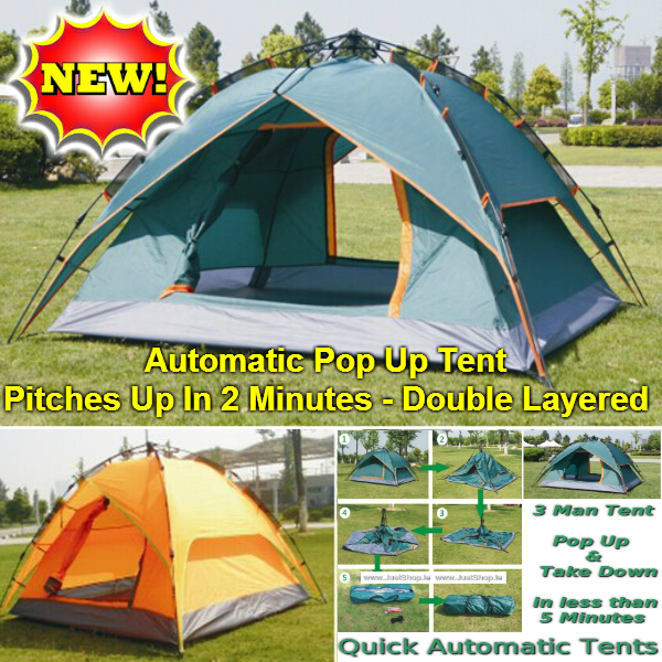 Camping Tent - Automatic Quick-Up Tent