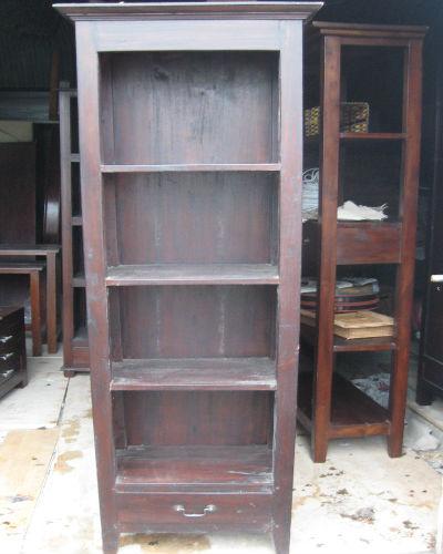 Handmade Slim Bookcase And Draw