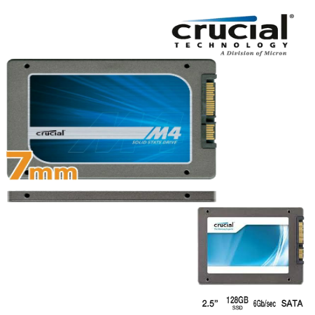 "Crucial CT128M4SSD1 128GB m4 SATA 6GB/s 2.5"" (7mm) Int SSD"