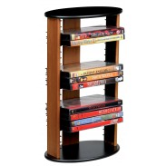 DOMIA Tower for 22 DVDS: Cherry & Black