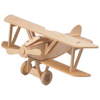 3D Wooden Jigsaw Puzzle (Biplane)