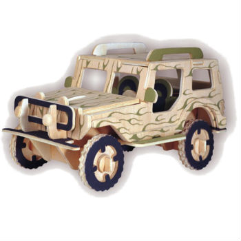 3D Wooden Jigsaw Puzzle (Hummer Camouflage)