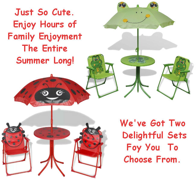 Kids 4 Piece Garden Patio Set