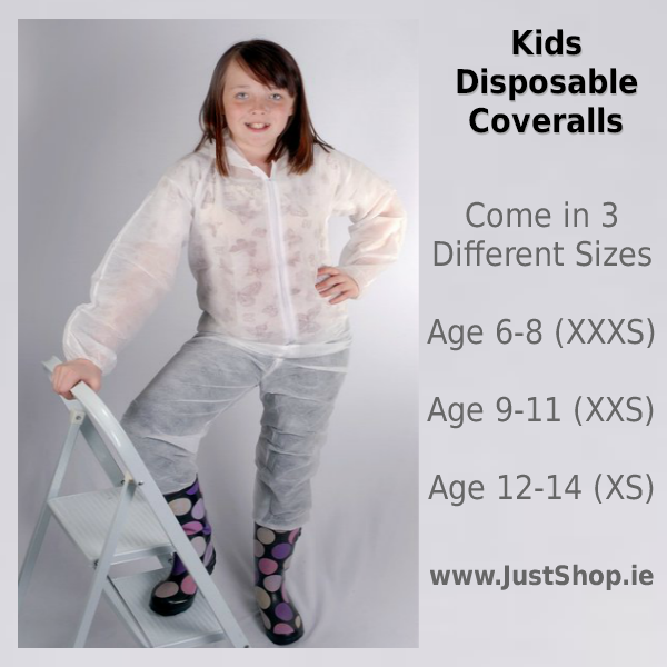 10 Disposable Coveralls for Kids & Teens Disposable ...